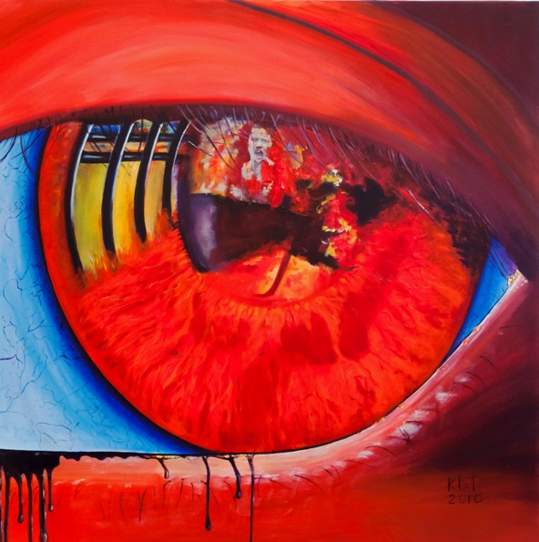 In the eye of the beholder - € 3.700 100 cm x 100 cm