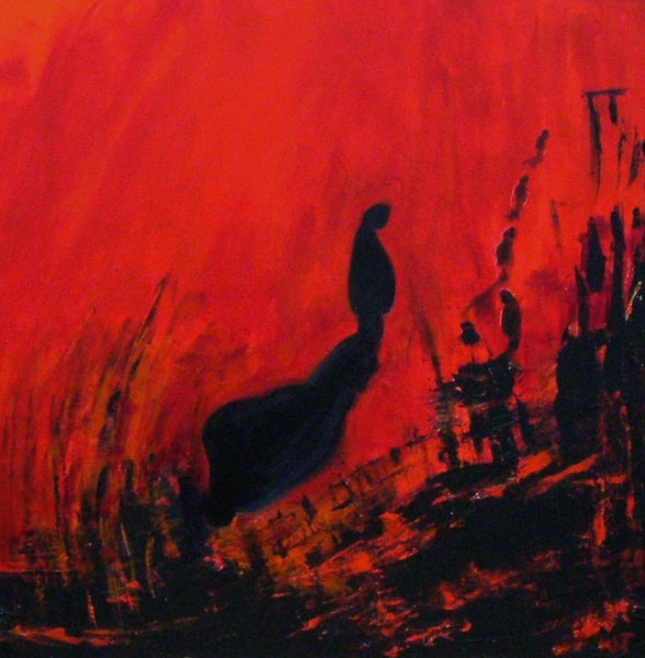 The Despair; acrylics on canvas; 90 cm x 90 cm;  2.500