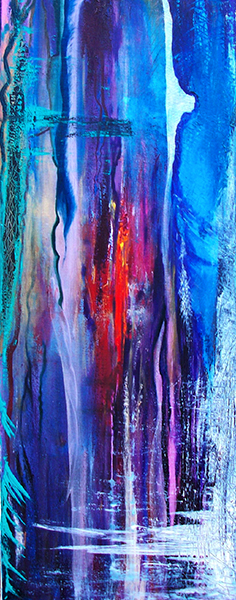 Abstract landscape III; acrylics and oil; 100 x 40 cm; £ 620