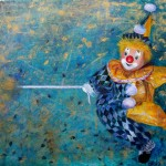 Gravity's Harlequin , 62 x 52; sold