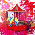 Merry-go-clown;  62 x 72 cm;  acrylics; £ 700