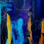 The creatures in a blue landscape - oil