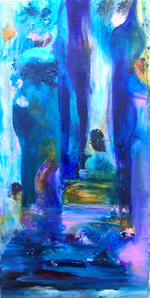 Abstract in blue - oil £ 350