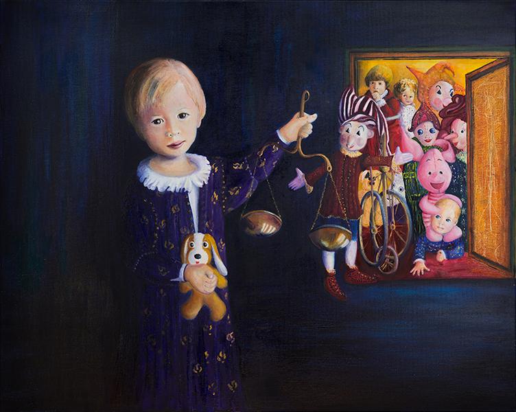 Nikolaus in his Wonderland oil; 100 x 80 cm