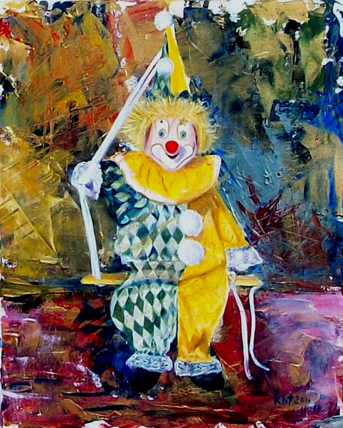 The Invisible Tears of the Clown, 52 x 42 cm; £ 1,000